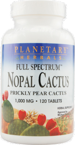 Planetary Herbals Nopal Cactus Tablets 1000 mg Perspective: front