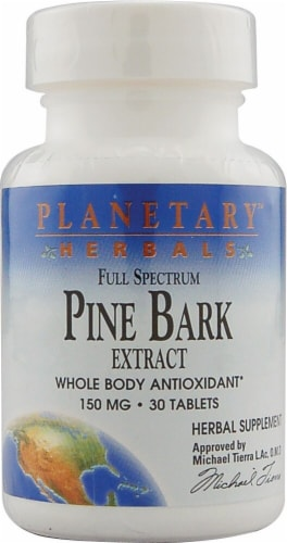 Planetary Herbals Full Spectrum Pine Bark Extract Tablets 150 mg Perspective: front