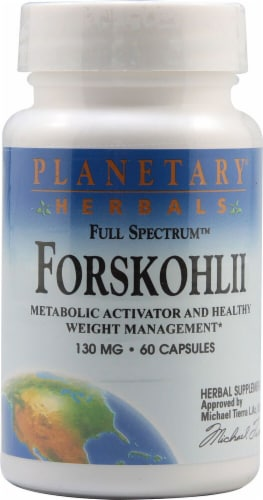 Planetary Herbals Forskohlii Tablets 130 mg Perspective: front