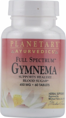 Planetary Herbals Ayurvedics® Full Spectrum™ Gymnema Tablets 450 mg Perspective: front