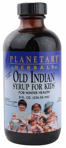Planetary Herbals Wild Cherry Old Indian Syrup for Kids Perspective: front