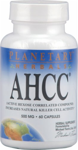 Planetary Herbals AHCC Capsules 500 mg Perspective: front