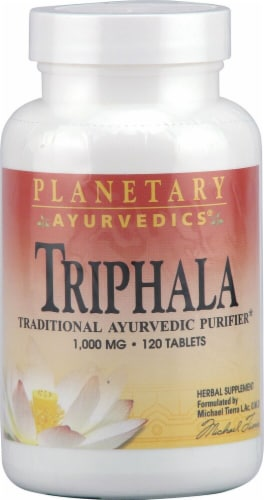 Planetary Herbals Triphala Tablets 1000 mg Perspective: front