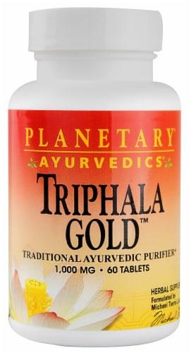 Planetary Herbals Ayurvedics® Triphala Gold™ Tablets 1000 mg Perspective: front