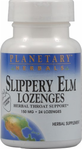 Planetary Herbals  Slippery Elm Lozenges   Strawberry Perspective: front