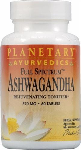 Planetary Herbals  Ayurvedics Full Spectrum Ashwagandha Tablets 570 mg Perspective: front