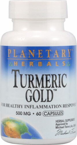 Planetary Herbals Turmeric Gold™ Capsules 500 mg Perspective: front