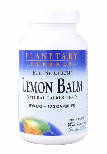 Planetary Herbals  Full Spectrum Lemon Balm Capsules 500 mg Perspective: front