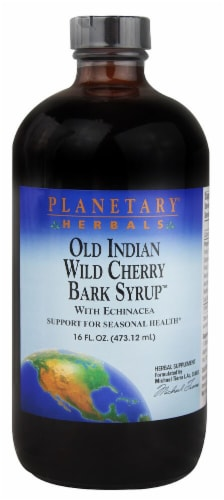 Planetary Herbals Old Indian Wild Cherry Bark Syrup™ Perspective: front