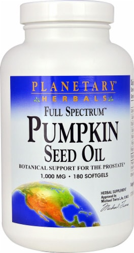 Planetary Herbals Full Spectrum™ Pumpkin Seed Oil Softgels 1000 mg Perspective: front
