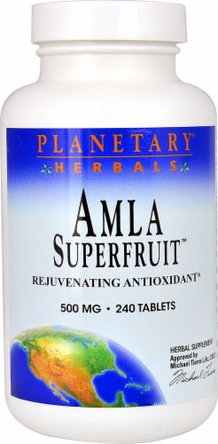 Planetary Herbals Amla Superfruit™ Tablets 500 mg Perspective: front