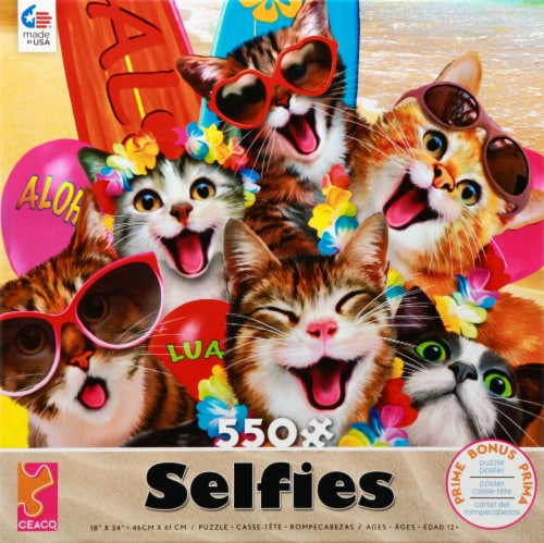 Ceaco Selfies Cat Puzzle Perspective: front