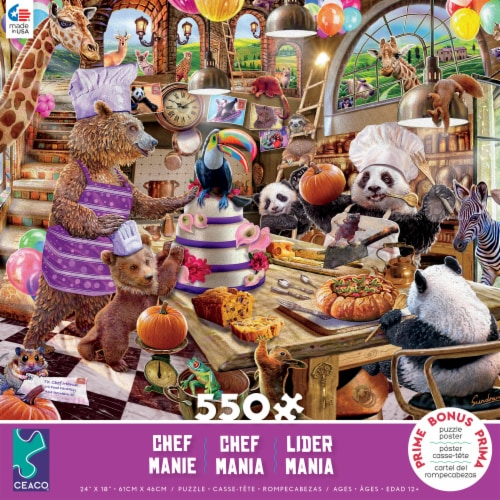 Ceaco Story Mania Assorted – Chef - 550 Piece Perspective: front