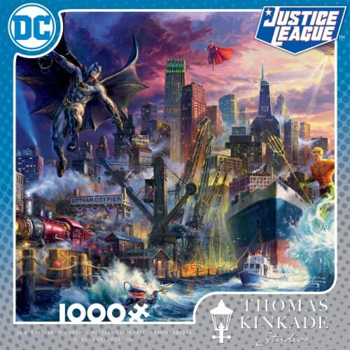 Ceaco Thomas Kinkade DC Comics Justice League Showdown Gotham Puzzle Perspective: front