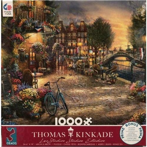 Thomas Kinkade Studios- Amsterdam Cafe 100 piece Jigsaw Puzzle Perspective: front