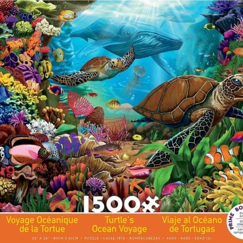 Ceaco 30377620 Turtles Ocean Voyage Jigsaw Puzzle - 1500 Pieces Perspective: front
