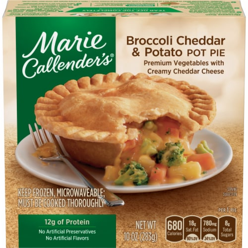 Marie Callender's Broccoli Cheddar & Potato Pot Pie Perspective: front