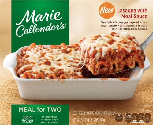 Marie Callender's Meal for Two Lasagna with Meat Sauce Perspective: front