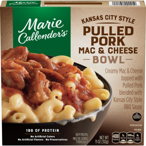 Marie Callender's Kansas City Style Pulled Pork Mac & Cheese Bowl Perspective: front