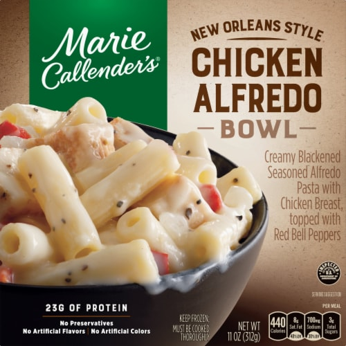 Marie Callender's New Orleans Style Chicken Alfredo Bowl Frozen Meal Perspective: front