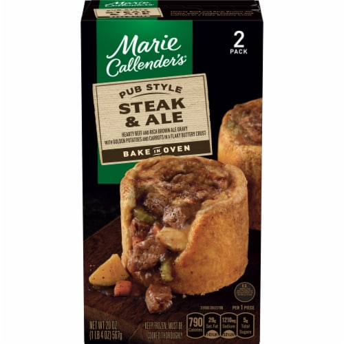 Marie Callender's Pub Style Steak and Ale Frozen Meal Perspective: front