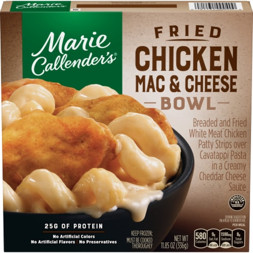 Marie Callender's Fried Chicken Mac and Cheese Bowl Frozen Meal Perspective: front