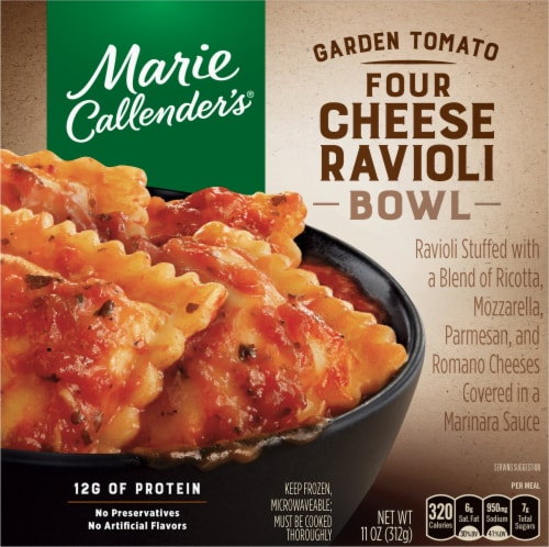 Marie Callender's Garden Tomato Four Cheese Ravioli Bowl Frozen Meal Perspective: front