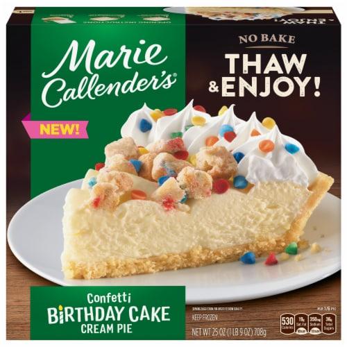 Marie Callender's Confetti Birthday Cake Cream Pie Perspective: front