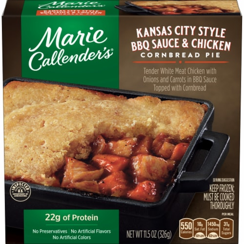 Marie Callender's Kansas City Style BBQ Sauce & Chicken Cornbread Pie Perspective: front
