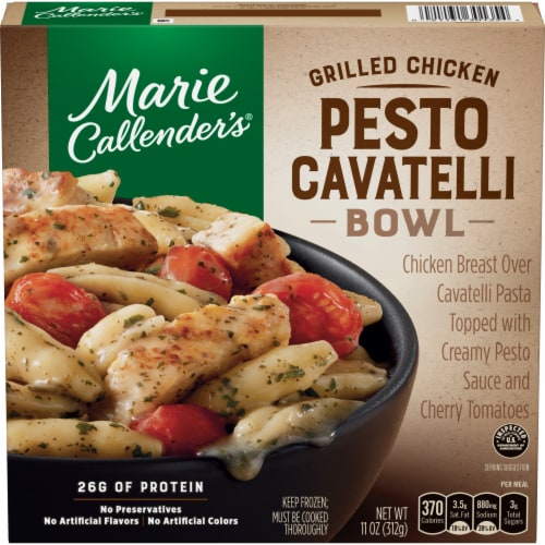 Marie Callender's Grilled Chicken Pesto Cavatelli Bowl Perspective: front
