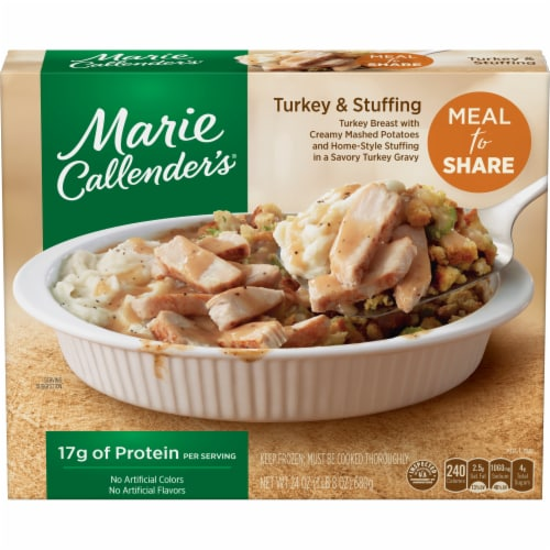 Marie Callender's Meal for Two Turkey & Stuffing Frozen Meal Perspective: front