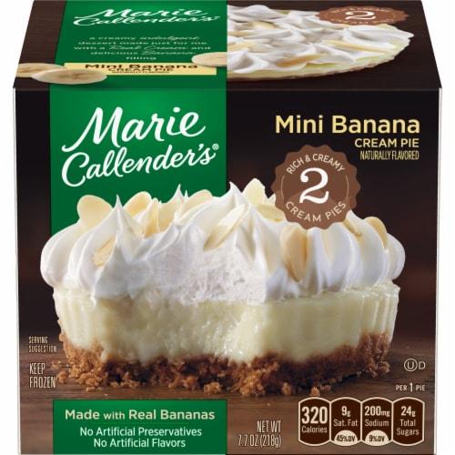 Marie Callender's Banana Cream Mini Pie 2 Count Perspective: front