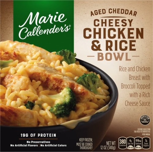 Marie Callender's Aged Cheddar Cheesy Chicken & Rice Bowl Perspective: front