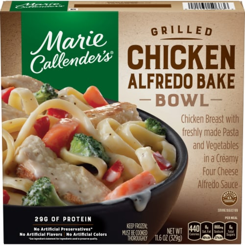 Marie Callender's Grilled Chicken Alfredo Bake Bowl Perspective: front
