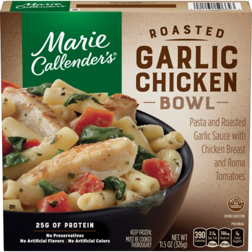 Marie Callender's Roasted Garlic Chicken Bowl Frozen Meal Perspective: front