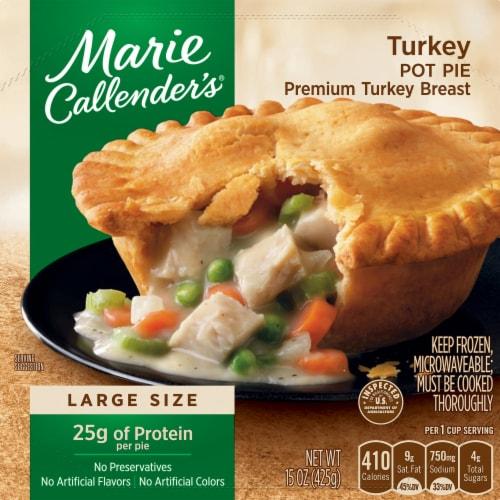 Marie Callender's Turkey Pot Pie Frozen Meal Perspective: front