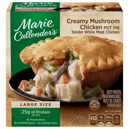 Marie Callender's Creamy Mushroom Chicken Pot Pie Frozen Meal Perspective: front