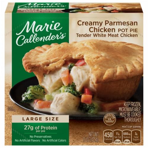 Marie Callender's Creamy Parmesan Chicken Pot Pie Frozen Meal Perspective: front