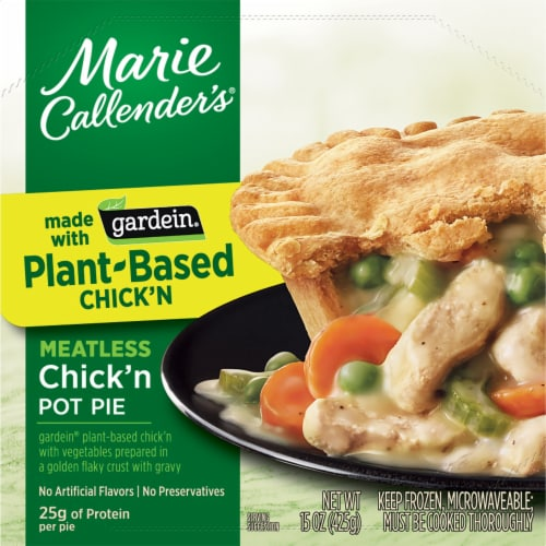 Marie Callender's Plant-Based Gardein Chick'n Pot Pie Frozen Meal Perspective: front