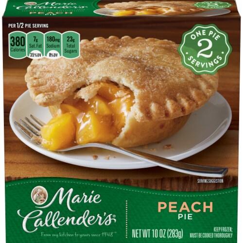 Marie Callender's Peach Pie Frozen Dessert Perspective: front