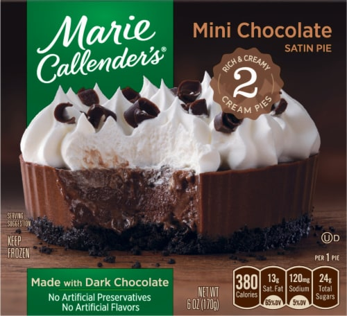 Marie Callender's Mini Chocolate Satin Pies Perspective: front