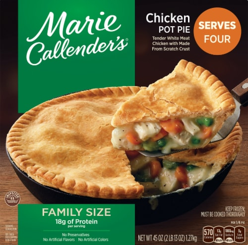 Marie Callender's Chicken Pot Pie Family Size Perspective: front