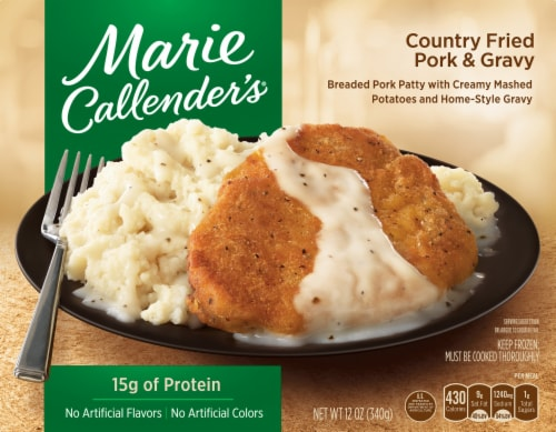 Marie Callender's Country Fried Pork & Gravy Frozen Meal Perspective: front