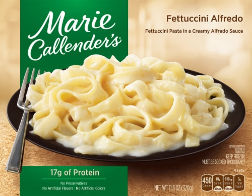Marie Callender's Fettuccini Alfredo Frozen Meal Perspective: front