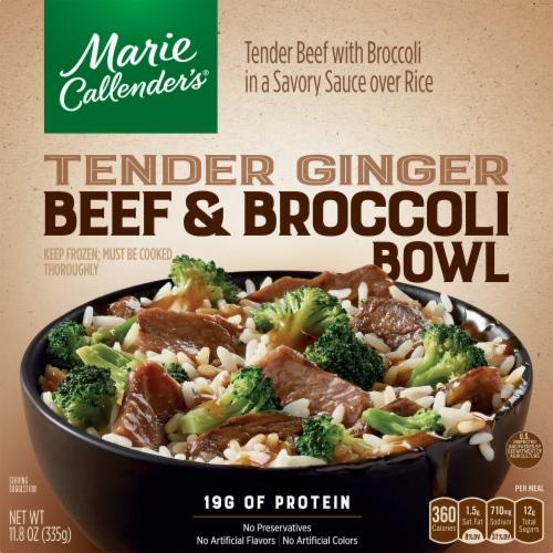 Marie Callender's Tender Ginger Beef & Broccoli Bowl Frozen Meal Perspective: front