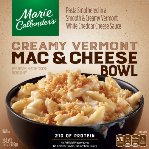 Marie Callender's Creamy Vermont Mac & Cheese Bowl Perspective: front
