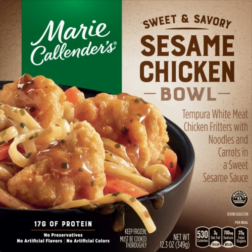 Marie Callender's Sweet and Savory Sesame Chicken Bowl Frozen Meal Perspective: front