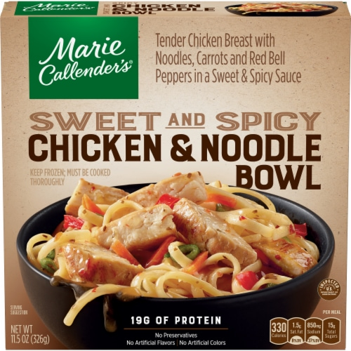 Marie Callender's Sweet and Spicy Chicken & Noodle Bowl Perspective: front