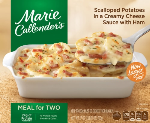 Marie Callender's Scalloped Potatoes in Creamy Cheese Sauce with Ham Perspective: front