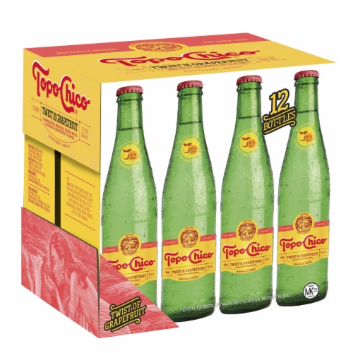 Topo Chico Twist of Grapefruit Sparkling Mineral Water Perspective: front
